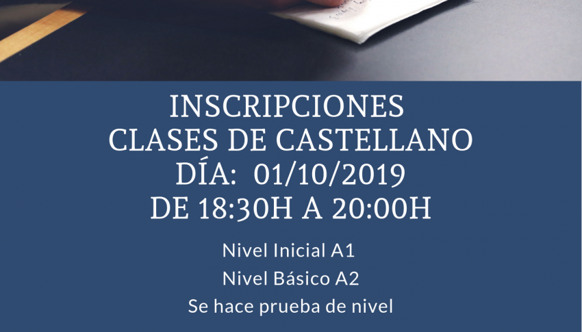 Inscripción clases de castellano 2019/20